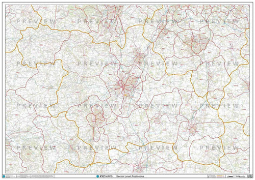 WR Postcode Map PDF or GIF Download