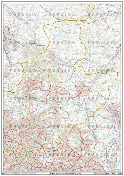 Walsall Postcode Maps for the WS Postcode Area Map Logic