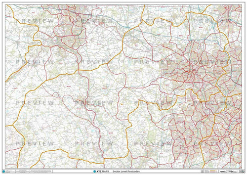 Wolverhampton Postcode Map for the WV Postcode Area - Full Sheet