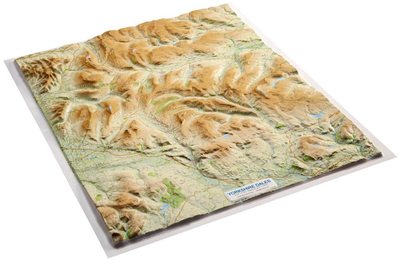 An angled view of the Yorkshire Dales 3D Relief Map