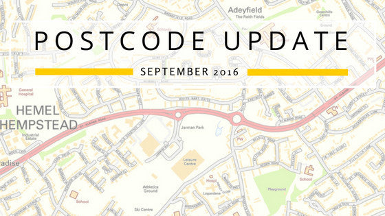 Postcode Update September 2016