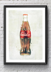 Capitalism Bottle Art Poster