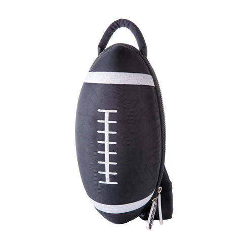 black rugby ball backpack bag