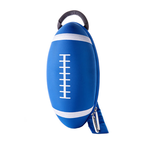 blue rugby ball backpack bag