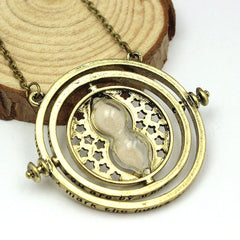 18k Gold Plated Rotating Hourglass Necklace