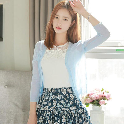 Long Sleeve Jacket Sky Blue