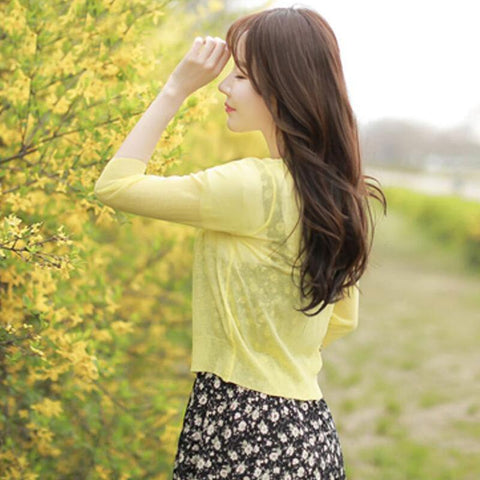 Long Sleeve Jacket Yellow