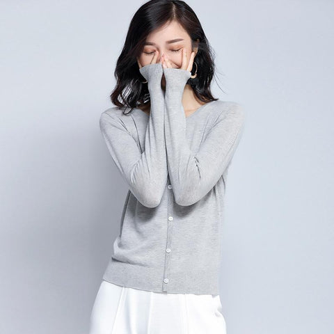 Long Sleeved Sweater Gray