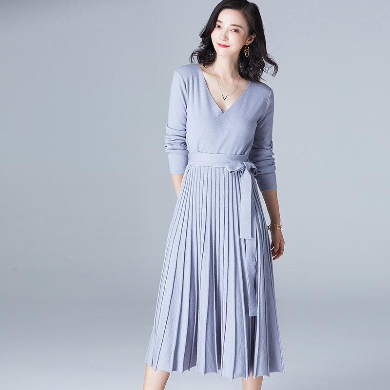 Knitted Dress Blue