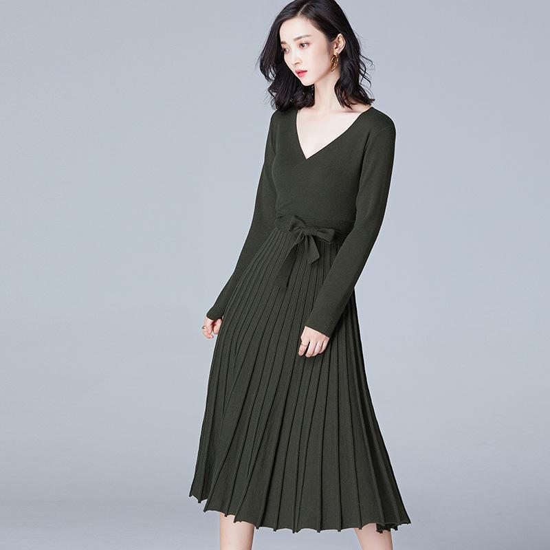 Knitted Dress Green