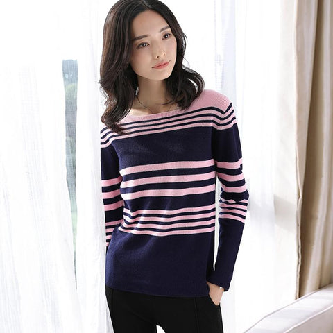 Long Sleeved Sweater Pink Blue