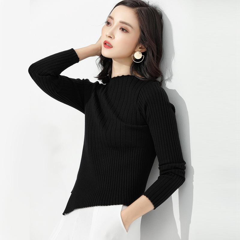 Long Sleeve Knitted Sweater Black