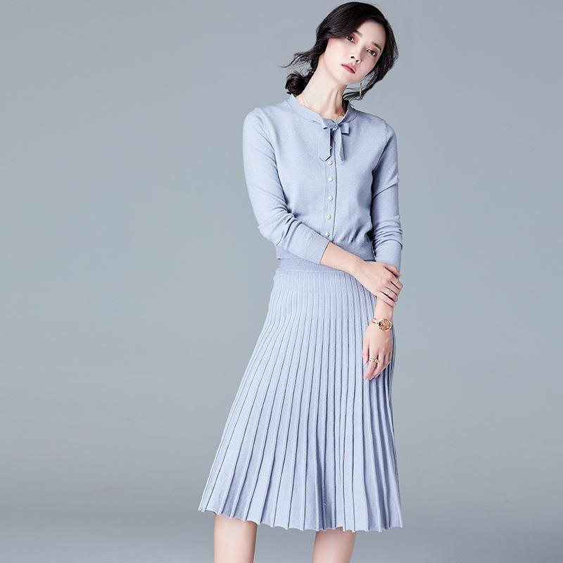 Long Sleeved Dress Gray