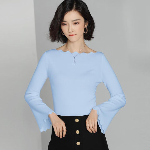 Knitted Sweater Sky Blue