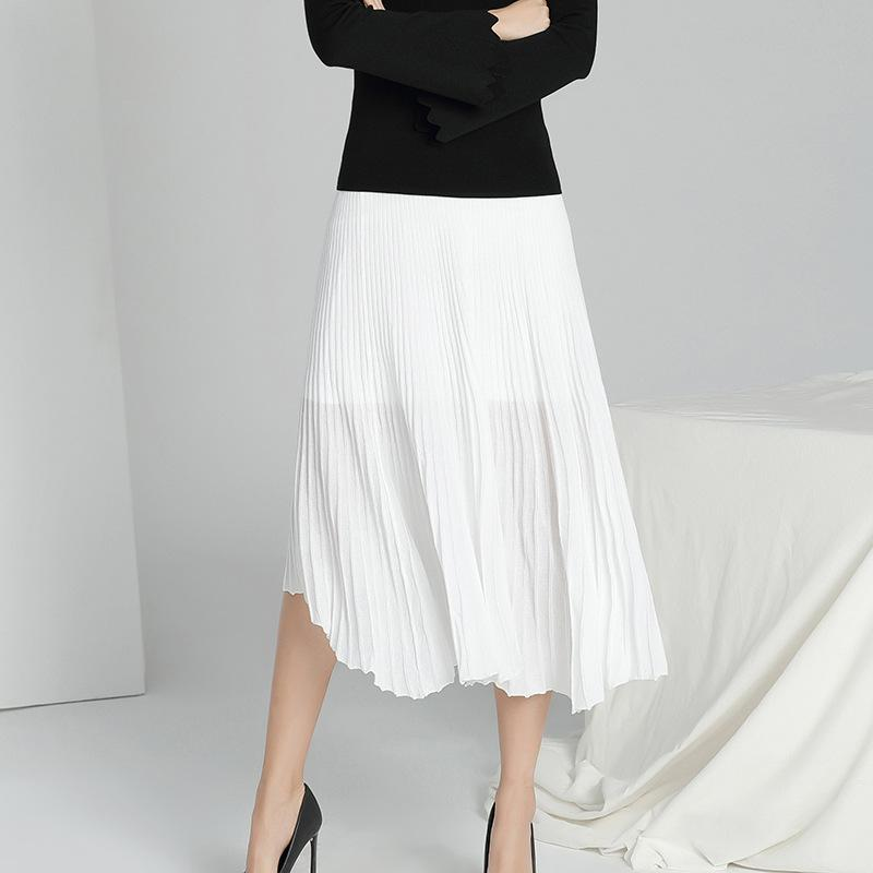 Knitted Skirt White