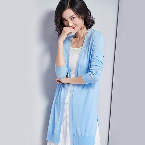 Knitted Cardigan Light Blue