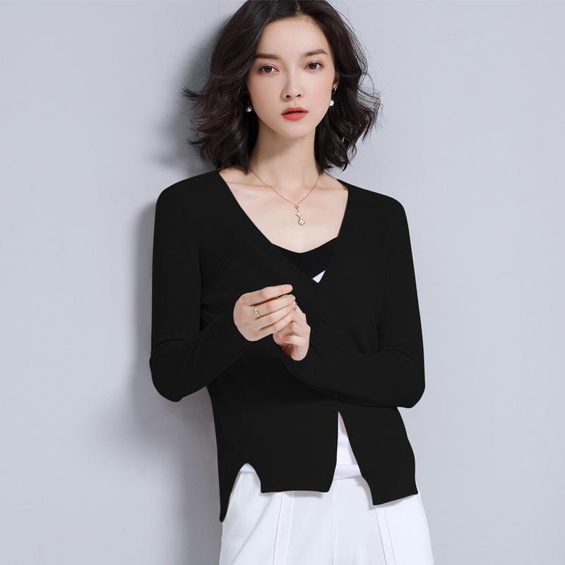 Long Sleeved Cardigan Black