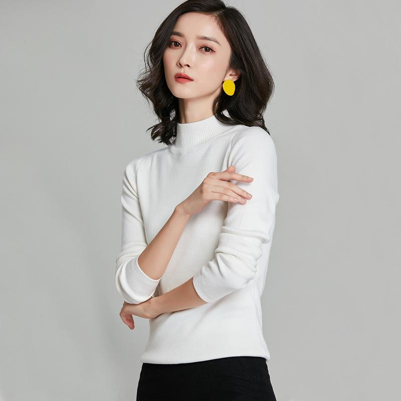Long Sleeved Knitted Sweater White