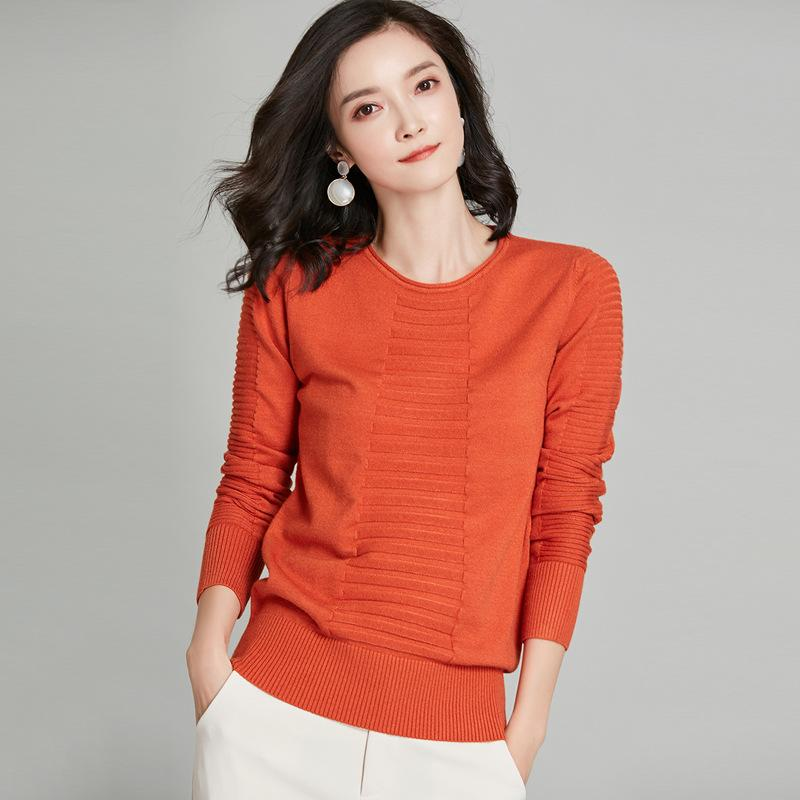Long Sleeved Sweater Orange Red