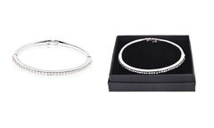 18k White Gold Plated Bangles