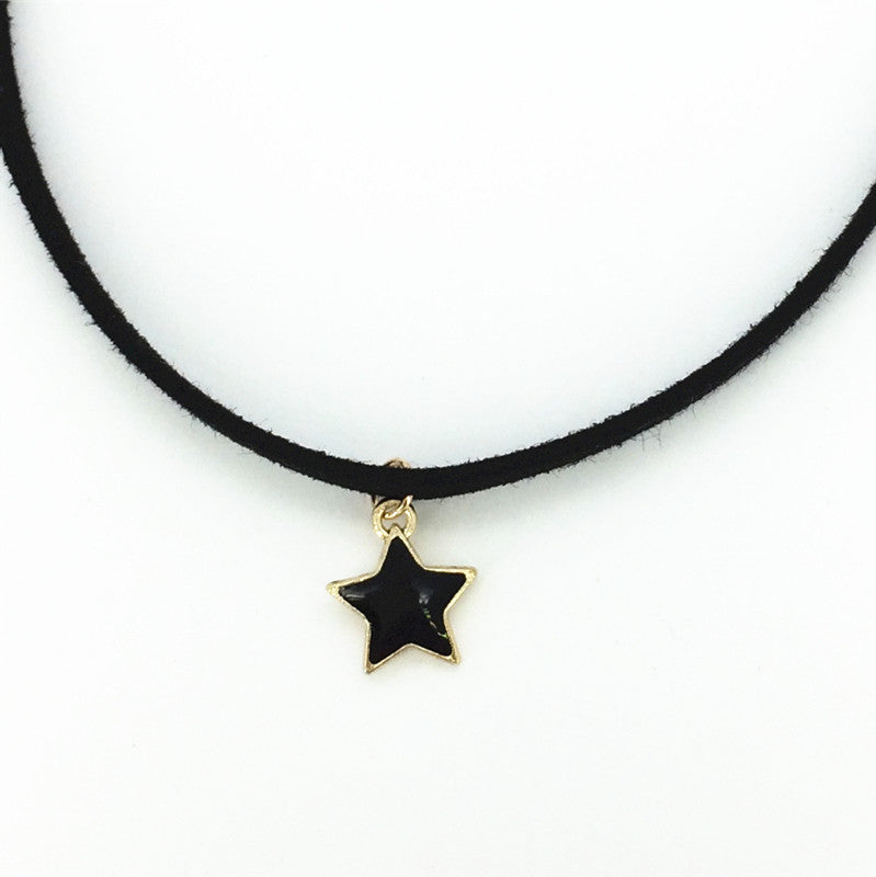 Plain Black Velvet Choker Necklace