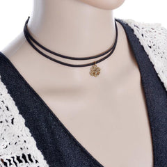 Double Layer Black Choker Necklace
