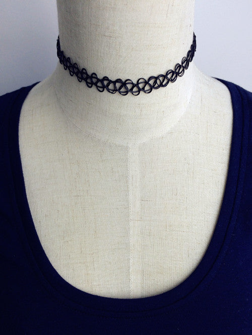 Ladies Rope Leather Necklace