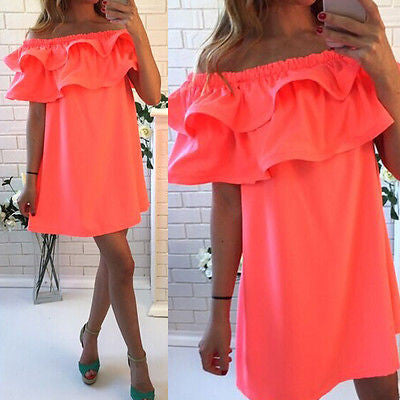 Sleeveless Ruffles Cocktail Dress