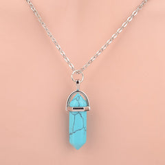 Natural Crystal Gemstone Necklace