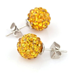 Swiss Crystal Shamballa Earrings
