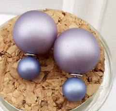 Silver Plated Faux Stud Earrings