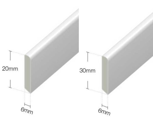 White Cloaking Fillet Window and Door Trim : 20mm - 30mm from Eurocell - Virtual Plastics Ltd.