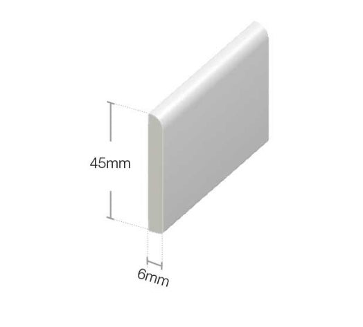 White Architrave Window and Door Trim : 45mm - 95mm from Eurocell - Virtual Plastics Ltd.