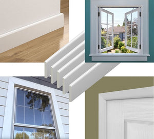 White Architrave Window and Door Trim : 45mm - 95mm