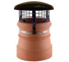 Chimney Cowl with Domed Top & Mesh - Black