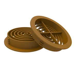70mm Round Soffit Air Vents - Upvc Push in Roof Disc Vent from Manthorpe - Virtual Plastics Ltd.