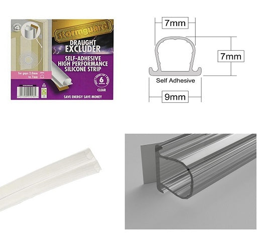 Stormguard Self Adhesive Clear Weatherstrip from Stormguard - Virtual Plastics Ltd.
