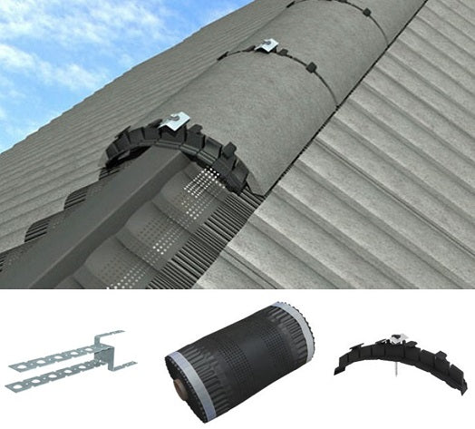 Dry Ridge Roll Out Ridge Kit - 6 Metre Manthorpe Roofing Ridge from Manthorpe - Virtual Plastics Ltd.