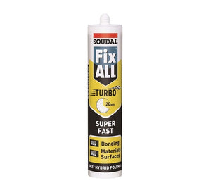Soudal Fix All Turbo Adhesive from Soudal - Virtual Plastics Ltd.