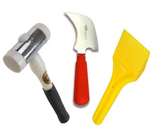 Glazing Kit - Glazing Paddle, Half Moon Glazing Knife and Thor Hammer from Xpert - Virtual Plastics Ltd.