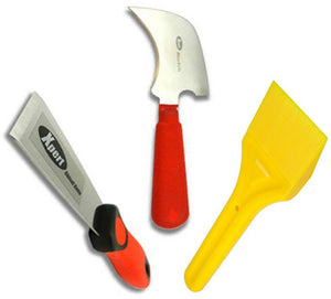 Glazing Kit - Xpert Chisel, Glazing Paddle and Half Moon Glazing Knife from Eurocell - Virtual Plastics Ltd.