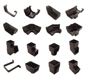 Gutter and Downpipe - Black Square from Marshall-Tufflex - Virtual Plastics Ltd.
