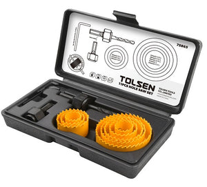 Tolsen 11 pcs Hole Saw Set 19-64mm from Tolsen - Virtual Plastics Ltd.