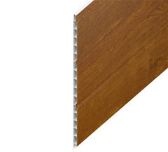 Golden Oak Hollow Soffit uPVC Cladding Board 300mm