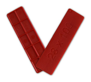 Window Glazing Packers / Flooring Spacers - 3mm x 28mm from Eurocell - Virtual Plastics Ltd.