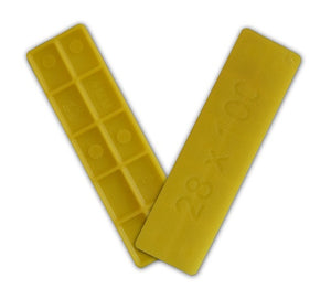 Window Glazing Packers / Flooring Spacers - 4mm x 28mm from Eurocell - Virtual Plastics Ltd.