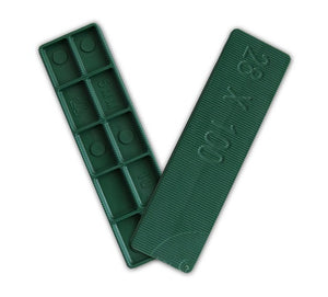 Window Glazing Packers / Flooring Spacers - 5mm x 28mm from Eurocell - Virtual Plastics Ltd.