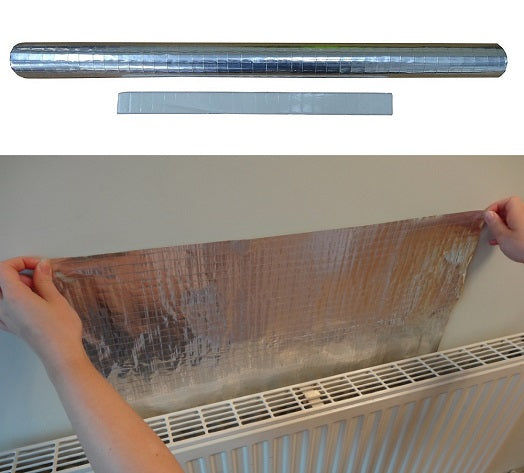 Stormguard Radiator Foil - Heat Reflector Film - 5m x 50cm from Stormguard - Virtual Plastics Ltd.