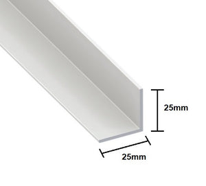 Rigid Angle Cover Trim - 25mm x 25mm Corner from Eurocell - Virtual Plastics Ltd.