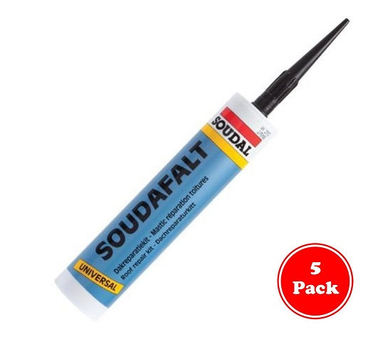Roof and Gutter Sealant - Black from Soudal - Virtual Plastics Ltd.